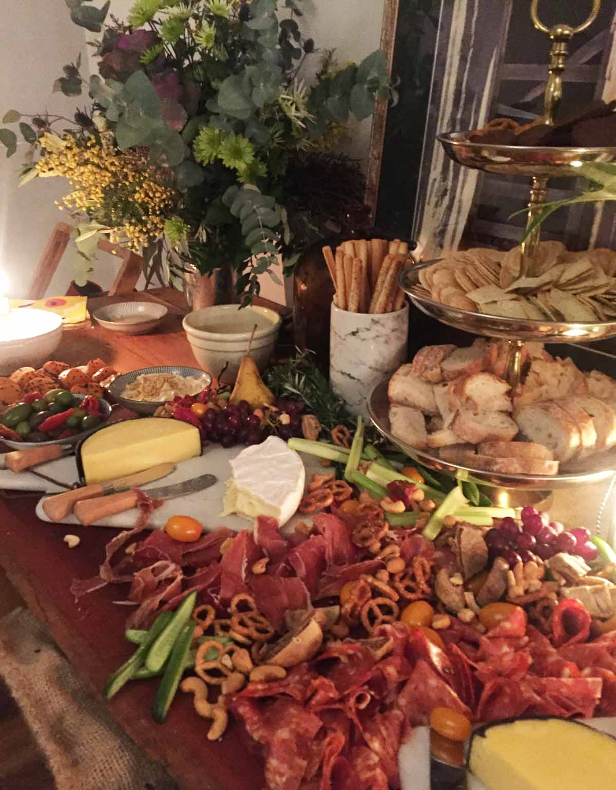 Grazing tables by Newcastle caterer Billy Goat